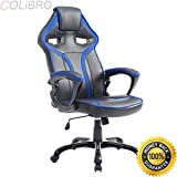COLIBROX--Race Car Style Bucket Seat Office Chair High Back Racing Gaming Chair Desk Task. new high back racing car style bucket seat office desk chair gaming chair. best bucket seat gaming chair.