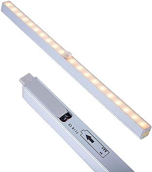 Details about  /20 LED Portable Motion Sensor Closet Light Night Cabinet Battery Powered Strip
