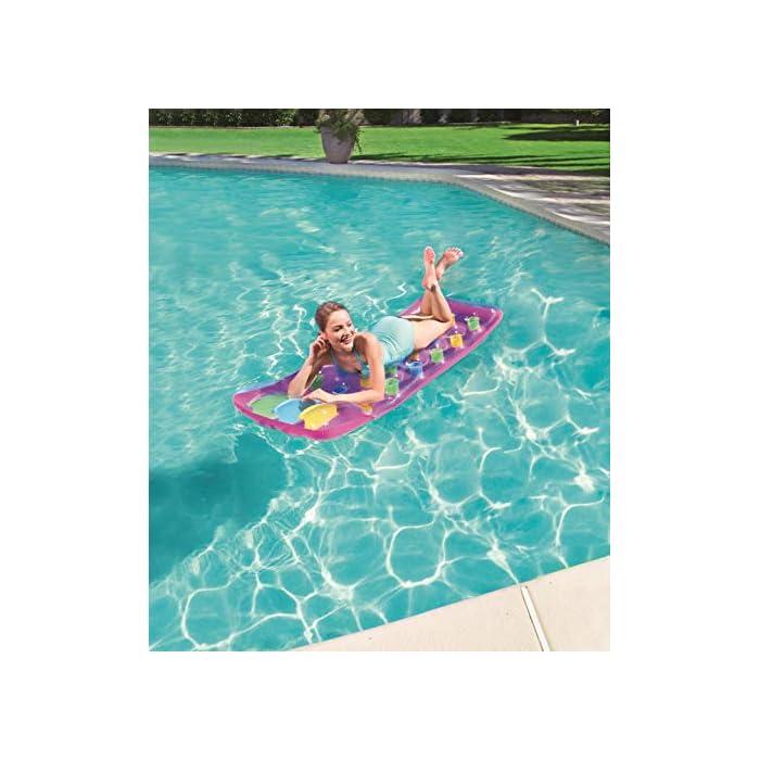 51AApXH6kQL Divertida colchoneta con diseño colorido para que te relajes tumbado bajo el sol mientras flotas en la piscina o en la playa Puedes sentarte o tumbarte a tomar el sol mientras flotas *Este producto tiene diseños SURTIDOS por lo que no se puede seleccionar el modelo/color concreto.