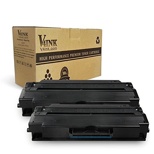 V4INK Compatible Toner Cartridge Replacement for Dell 1260 For Use With Dell B1260dn B1260 B1265dn B1265dnf B1265dfw Printers Series ( Black 2 Pack, 2,500 Pages)