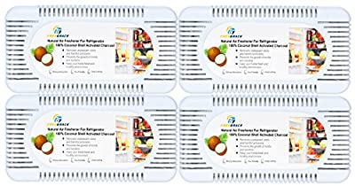 Premium Activated Carbon Air Purifying Bag Pack By Freegrace - 4 Coconut Shell Charcoal Odor Absorbent Boxes - 3 Times More Effective Than Bamboo Charcoal Deodorants