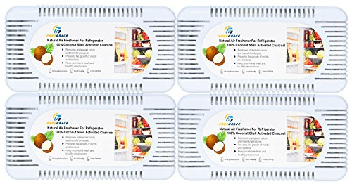 Premium Activated Carbon Air Purifying, Freshener, and Deodorizer Boxes - 4 Pack of 100% Natural Coconut-Shell Charcoal Odor Absorbent Boxes - 3 Times More Effective Than Bamboo Charcoal Deodorants