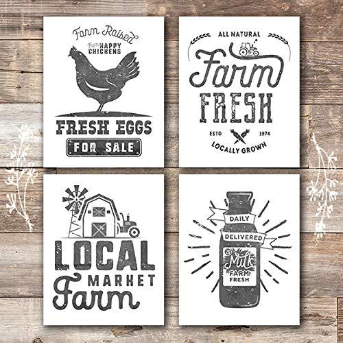 Farmhouse Decor - Kitchen Art Prints (Set of 4) - Unframed - 8x10s