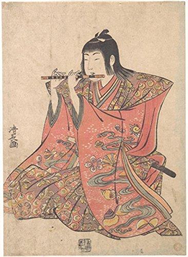 Fine Art Print | Torii Kiyonaga | A Doll Representing a Boy Playing a Flute | Japan | Edo Period (1615–1868) | Vintage Wall Art | 18in x 24in ()