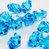 Acrylic Ice Rock Cubes 1 Lb Bag, Vase Filler or Table Decorating Idea (Turquoise), Health Care Stuffs