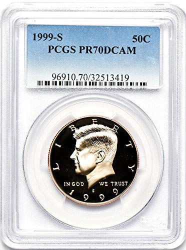 1999 S Silver Gem Proof Kennedy Half Dollar 1/2 PF 70 Deep Cameo - DCAM- The Perfect Coin - ()