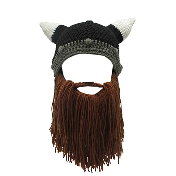Gorra máscara vikinga para regalo de cumpleaños - Gorro vikingo para fiesta.