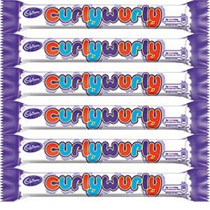 Curly Wurly Chocolate Bar (Cadbury Curly Wurly Bar from England (Pack 5 Bars))