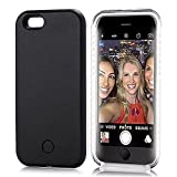 iPhone 6S Case, Elftear LED Light Up Luminous Selfie Cell Phone Case Illuminated Back Cover for Apple iPhone 6S iPhone 6 (Black)