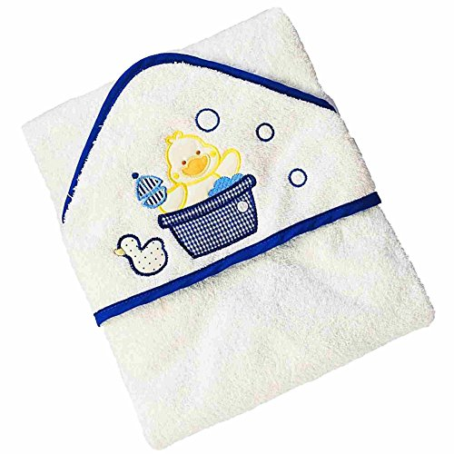 Costume Towel Hygienic (Baby Hooded Bath Towels by BABYGOLD |Baby Registry Gift for Baby Shower AND Welcome Baby Box |100% Cotton | Suitable For Infants & Kids | White Color | Yellow Duck)