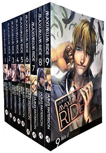 James Patterson Maximum Ride Manga Series 9 Books Collection Set (Set Ride)