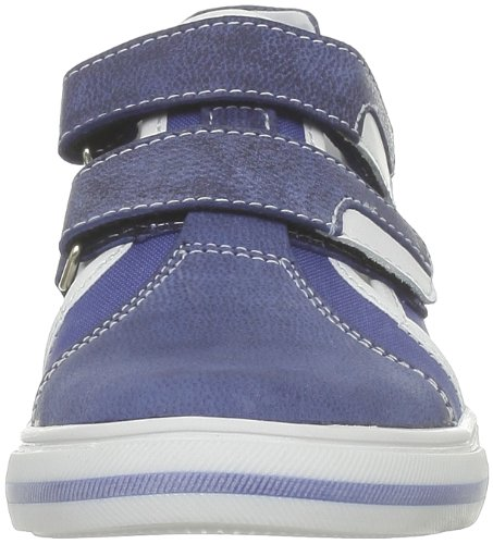 GBB - Zapatillas de casa de cuero para niño Azul (Bleu (12 Vtx Bleu))