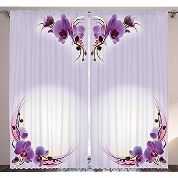 amazon com bedroom curtains nature home decor by Amazon Curtains and Drapes Amazon Sheer Curtains