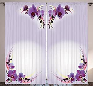 amazon com ambesonne bedroom curtains nature home decor Walmart Curtains Amazon Curtains and Drapes