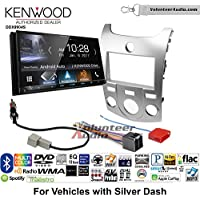 Volunteer Audio Kenwood DDX9904S Double Din Radio Install Kit with Apple CarPlay Android Auto Bluetooth Fits 2011-2013 Kia Forte (Silver)