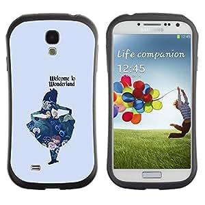 "Hypernova Slim Fit Dual Barniz Protector Caso Case Funda Para SAMSUNG Galaxy S4 IV / i9500 / i9515 / i9505G / SGH-i337 [Chica Cita Fairytale texto""]"