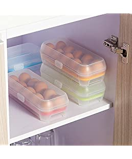 dhruheer Refrigerator Egg Storage Box, Egg Storage Container, Egg Holder Fridge Tray (1, 10 Grids)