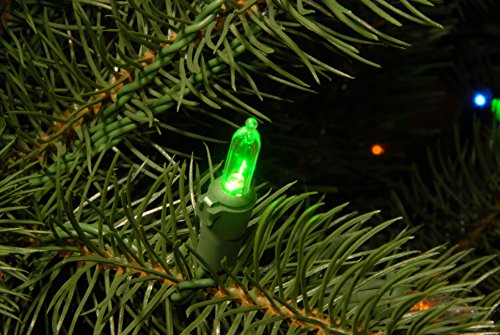 National Tree 7.5 Foot ''Feel Real'' Downswept Douglas Fir Tree with 750 Dual Color LED Lights and On/Off Switch, Hinged (PEDD1-312LD-75X) by National Tree Company (Image #3)