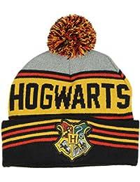 Hogwarts Crest Harry Potter Pom Cuff Knit Hat