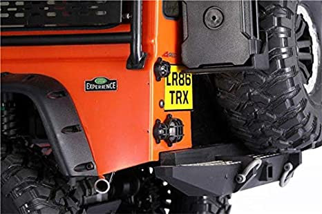 GPM R/C Scale Accessories : Tail Light For Traxxas TRX-4 Land Rover Defender D90 D110-18Pc Set Black