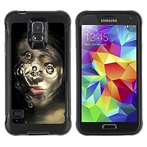 Suave TPU Caso Carcasa de Caucho Funda para Samsung Galaxy S5 SM-G900 / broken face / STRONG