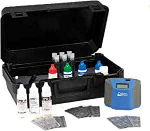 LaMotte LM-2056BC ColorQ Pro 7 Digital Liquid Pool and Spa Water Testing Kit 2056 with Black Storage Case