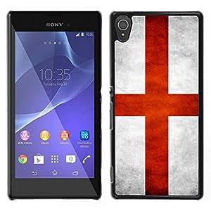 LECELL--Funda protectora / Cubierta / Piel For Sony Xperia T3 -- Nacional bandera de la nación País Inglaterra --