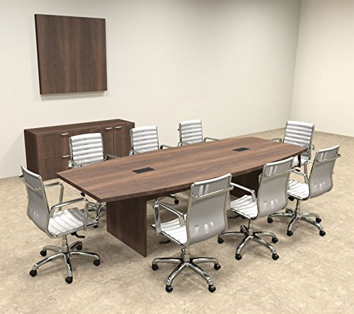 Modern Boat Shaped 10' Feet Conference Table, #OF-CON-C59