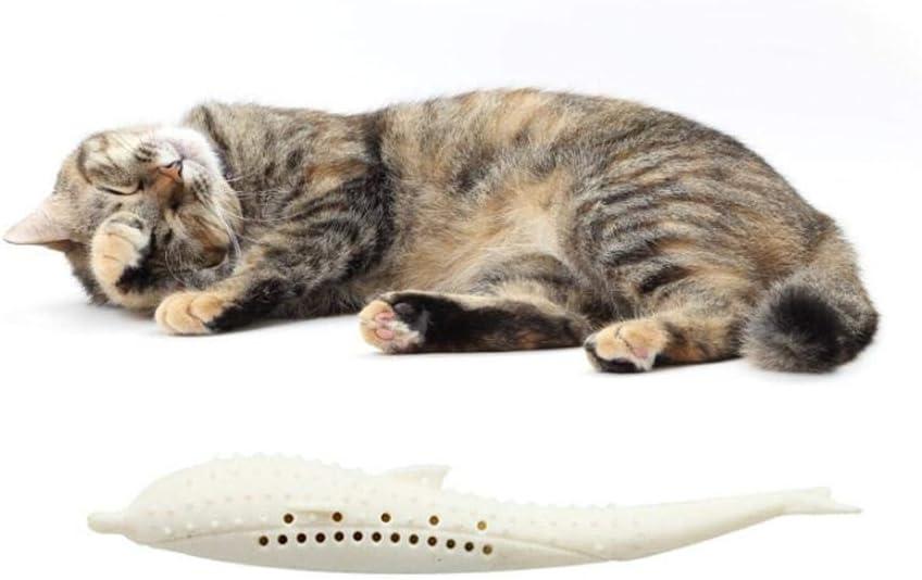 AIMERKUP Pet Cat Fish Shape Cepillo de Dientes, Cat Cepillo de Dientes, Fish Flop Cat Toy, Pet Cat Fish Shape Cepillo de Dientes con Catnip,Catnip Toys Simulación de Fish up-to-Date