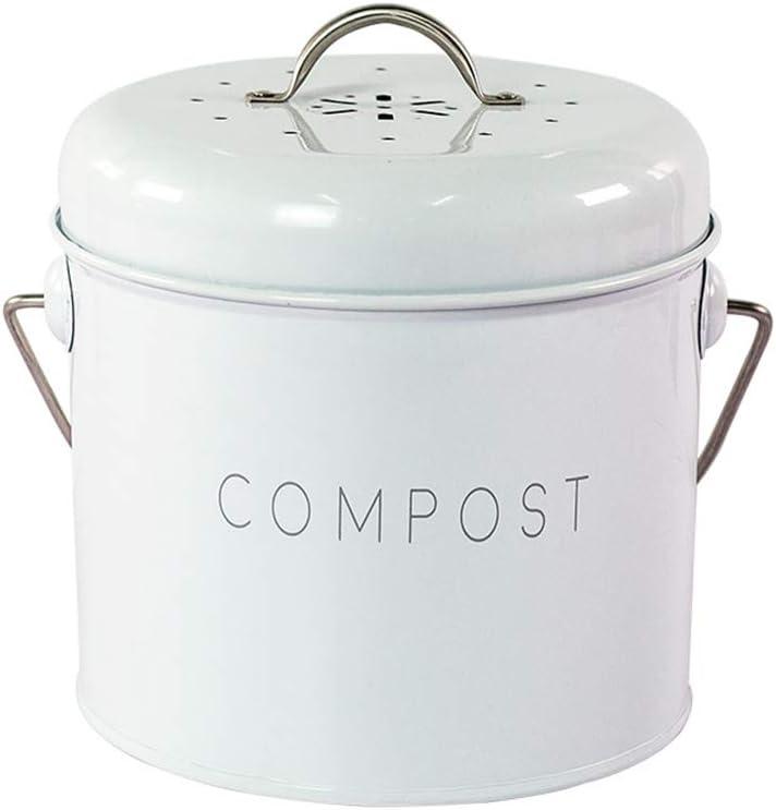 Compostador de cocina compost de mesa, acabado en crema antiguo ...