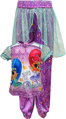 Nick Jr Shimmer And Shine Born To Dance Pajama for Little Girls -