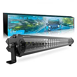 MICTUNING Magical M1 30 Inch LED Light Bar with IceBlue Accent Light - Exclusive Streamline ArcMask Design 16200lm Off Road Driving Work Lamp, 2 Years Warranty