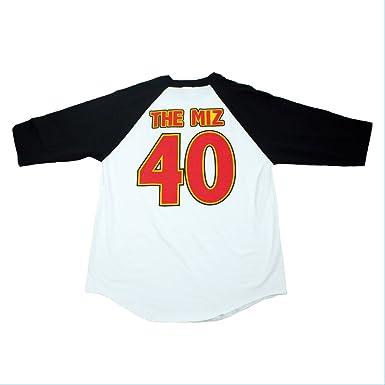 a01e1a06797 Amazon.com  WWE Authentic Wear The Miz I m Awesome Retro Raglan T ...