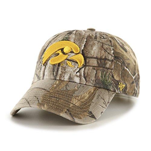 NCAA Iowa Hawkeyes Realtree Clean Up Adjustable Hat, One Size, Realtree Camo (Hawkeyes Iowa Camo)