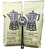 IKEA Espresso Ground Coffee, Roasted - Bundle - Organic - 8.8 Oz Each (Pack of 2 - Total 17.6 oz) With Stainless Steel Measuring Coffee Spoon