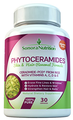Phytoceramides-with-Ceramide-PCD-from-Rice-and-Vitamins-A-C-D-E-30-Capsules-40-mgServing-Gluten-Free-All-Natural-Plant-Derived-Anti-Aging-Skin-Hair-Supplement-by-Sonora-Nutrition