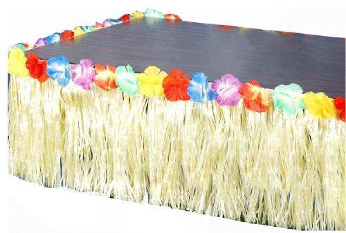 [Forum Novelties Hawaiian Luau Party Grass Skirt Table Fringe] (Hawiian Costumes)