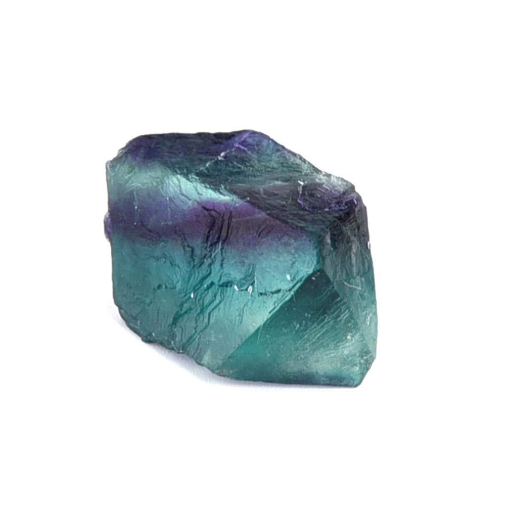 Hmlai Clearance Natural Irregular Crystal Quartz Healing Fluorite Wand Stone Purple Green Gem (2-3cm)