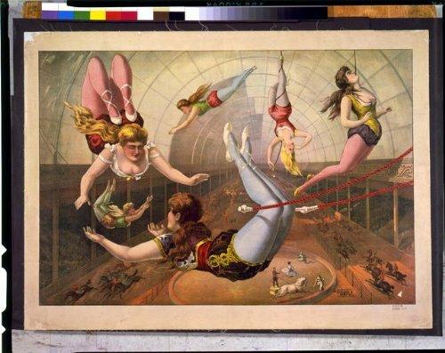 Trapeze Costumes Women (Photo: Female acrobats,trapezes,circus,aerialist,performer,women,clothing,costume,c1890)