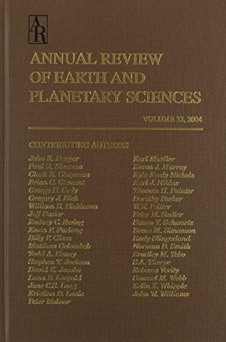 Books : Annual Review of Earth and Planetary Sciences, Vol. 32, 2004
