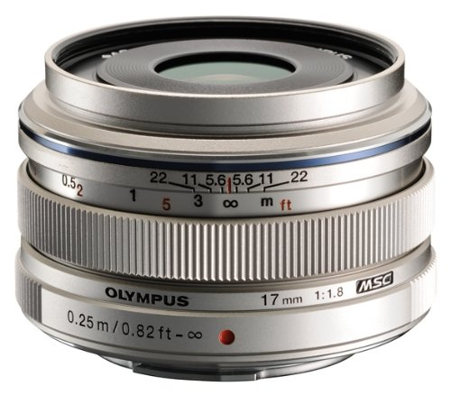 Olympus M.Zuiko 17mm f1.8 (Silver) for Olympus and Panasonic Micro 4/3 Cameras