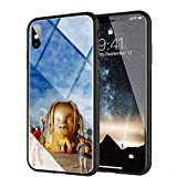 iPhone XR Case, Tempered Glass Back Cover Soft Silicone Bumper Compatible with iPhone XR AMB-2 Astroworld Travis Scott