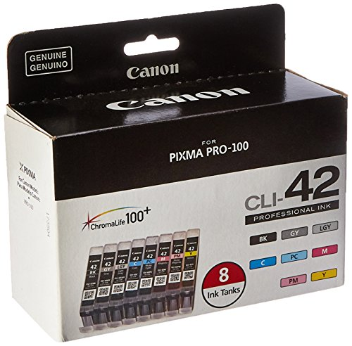 - Canon CLI-42 8 PK Value Pack Ink, 8 Pack