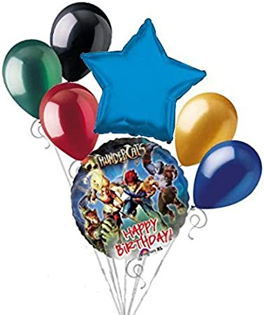 Amazon.com: 7 pieza Thundercats Feliz cumpleaños globo Ramo ...