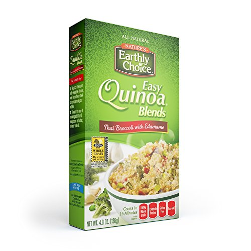 Natures Earthly Choice Quinoa Thai Broccoli with Edamame, 6 x 4.8 ounce by Nature's Earthly Choice