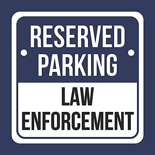 New Road Sign Metal Aluminum Reserved Parking Law Enforcement Print Blue White and Black Notice Parking 2 Pack Square Sign 12x12 Inch