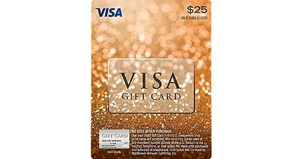 Amazon.com: Tarjeta de regalo con visado de $25 (más $3.95 ...