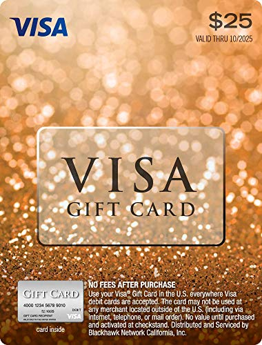 $25 Visa Gift Card (plus $3.95 P...