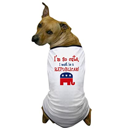 2987bfc1b Amazon.com : CafePress - So Cute Republican Dog T-Shirt - Dog T ...