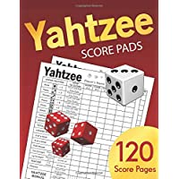 Yahtzee Score Pads: Large size 8.5 x 11 inches 120 Pages Dice Board Game YAHTZEE SCORE SHEETS Yatzee Score Cards Yahtzee…